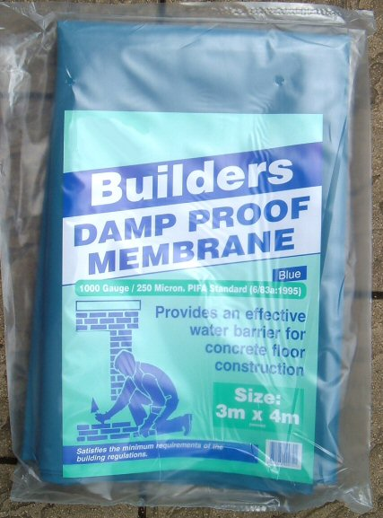 500 Micron Damp Proof Membrane Sheet : Do it yourself products